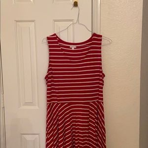 CLEARANCE: Red/White striped dress